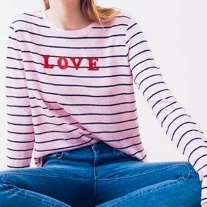 LOU & GREY Love Pink Striped Linen Tee XL